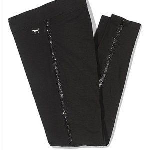 Victoria's Secret PINK Black sequin leggings